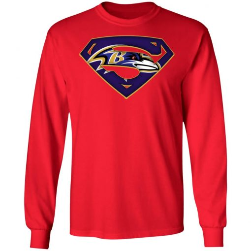 We Are Undefeatable The Baltimore Ravens x Superman NFL LS T-Shirt