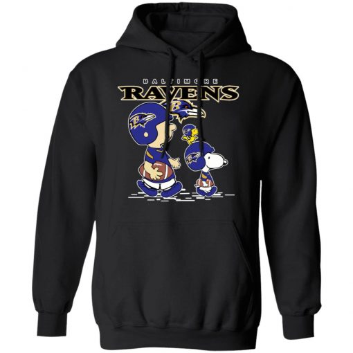 Baltimore Ravens Let's Play Football Together Snoopy NFL Shirts Hoodie