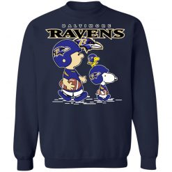 Baltimore Ravens Let's Play Football Together Snoopy NFL Shirts Sweatshirt