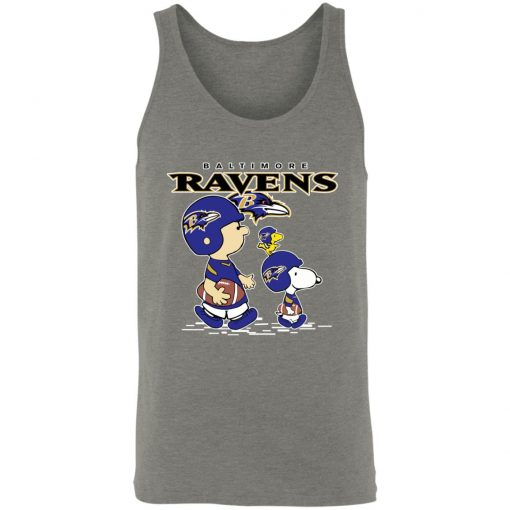 Baltimore Ravens Let's Play Football Together Snoopy NFL Shirts Unisex Tank
