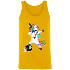 Football Dabbing Unicorn Steps On Helmet Baltimore Ravens Shirts Unisex Tank