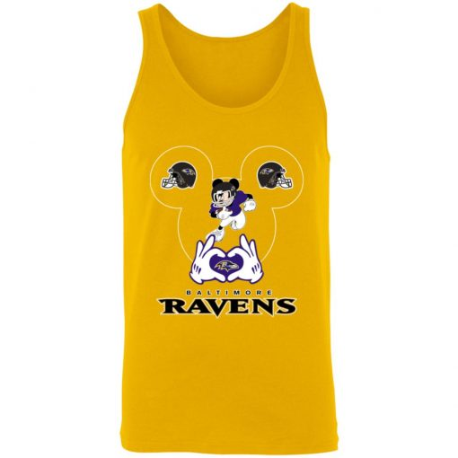 I Love The Ravens Mickey Mouse Baltimore Ravens Unisex Tank