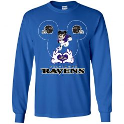 I Love The Ravens Mickey Mouse Baltimore Ravens Youth LS T-Shirt