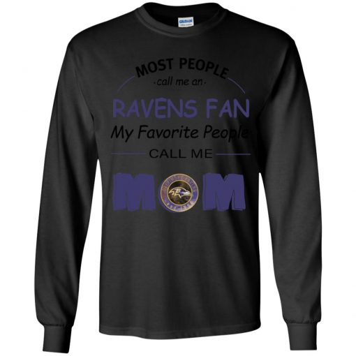 Most People Call Me Baltimore Ravens Fan Football Mom Youth LS T-Shirt