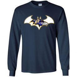 We Are The Baltimore Ravens Batman NFL Mashup Youth LS T-Shirt