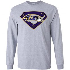 We Are Undefeatable The Baltimore Ravens x Superman NFL Youth LS T-Shirt