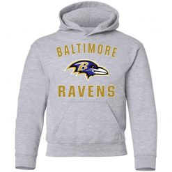 Baltimore Ravens NFL Line by Fanatics Branded Gray Victory Youth Hoodie