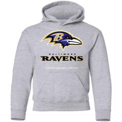 Baltimore Ravens NFL Pro Line Black Team Lockup Youth Hoodie