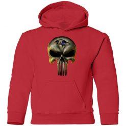 Baltimore Ravens The Punisher Mashup Football Shirts Youth Hoodie