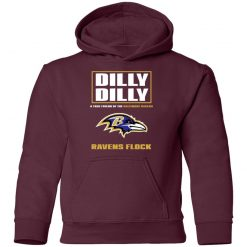 Dilly Dilly A True Friend Of The Baltimore Ravens Shirts Youth Hoodie