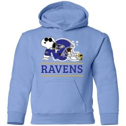 The Baltimore Ravens Joe Cool And Woodstock Snoopy Mashup Youth Hoodie