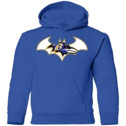 We Are The Baltimore Ravens Batman NFL Mashup Youth Hoodie