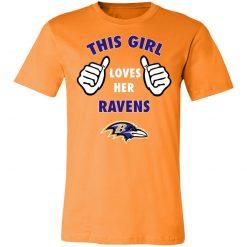 This Girl Loves HER Baltimore Ravens Unisex Jersey Tee