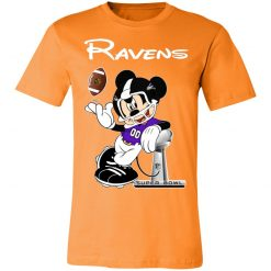 Mickey Ravens Taking The Super Bowl Trophy Football Unisex Jersey Tee