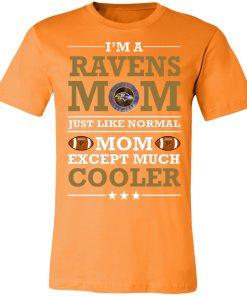 I'm A Ravens Mom Just Like Normal Mom Except Cooler NFL Unisex Jersey Tee