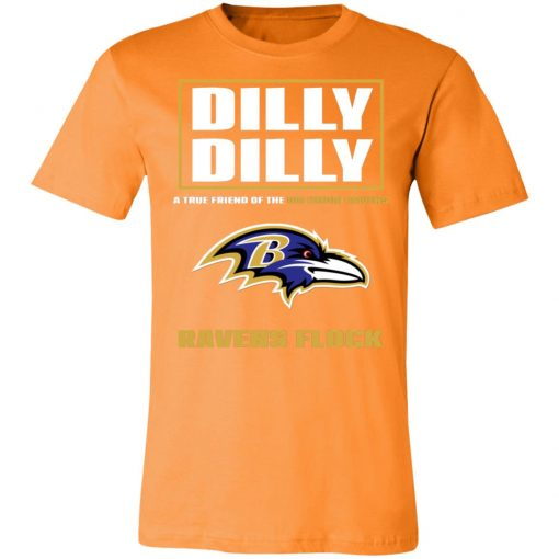 Dilly Dilly A True Friend Of The Baltimore Ravens Shirts Unisex Jersey Tee