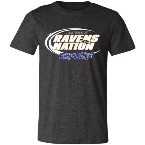 A True Friend Of The Ravens Nation Unisex Jersey Tee