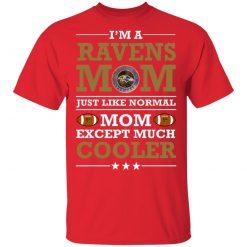 I'm A Ravens Mom Just Like Normal Mom Except Cooler NFL Men's T-Shirt