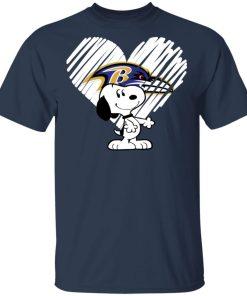 I Love Baltimore Ravans Snoopy In My Heart NFL Shirts Men's T-Shirt