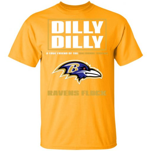 Dilly Dilly A True Friend Of The Baltimore Ravens Shirts Men's T-Shirt