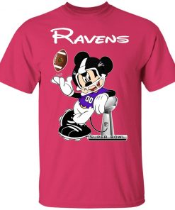 Mickey Ravens Taking The Super Bowl Trophy Football Youth T-Shirt