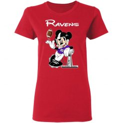 Mickey Ravens Taking The Super Bowl Trophy Football Women's T-Shirt