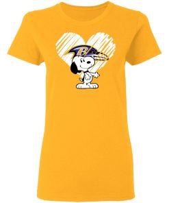 I Love Baltimore Ravans Snoopy In My Heart NFL Shirts Women's T-Shirt