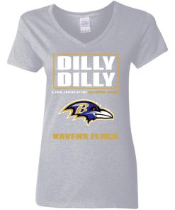 Dilly Dilly A True Friend Of The Baltimore Ravens Shirts V-Neck T-Shirt