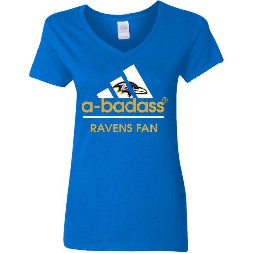 A-Badass Baltimore Ravens Mashup Adidas NFL V-Neck T-Shirt
