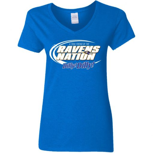 A True Friend Of The Ravens Nation V-Neck T-Shirt