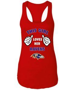 This Girl Loves HER Baltimore Ravens Racerback Tank