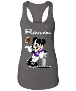 Mickey Ravens Taking The Super Bowl Trophy Football Racerback Tank