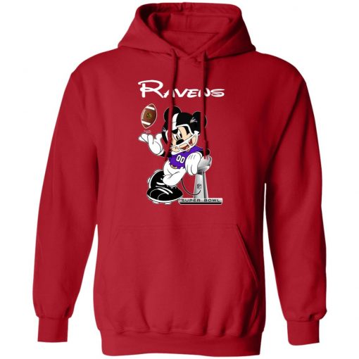 Mickey Ravens Taking The Super Bowl Trophy Football Hoodie
