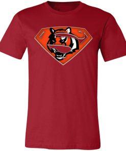 We Are Undefeatable The Cincinnati Bengals x Superman NFL Unisex Jersey Tee