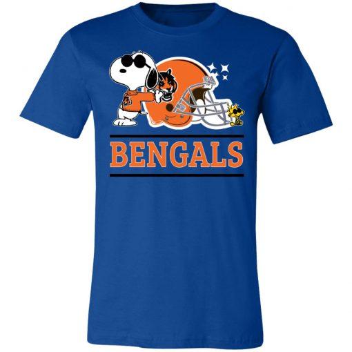 The Cincinnati Bengals Joe Cool And Woodstock Snoopy Mashup Unisex Jersey Tee