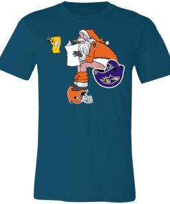 Santa Claus Cincinnati Bengals Shit On Other Teams Christmas Unisex Jersey Tee