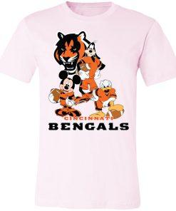 Mickey Donald Goofy The Three Cincinnati Bengals Football Shirts Unisex Jersey Tee