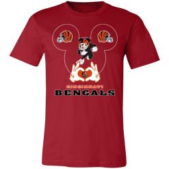 I Love The Bengals Mickey Mouse Cincinnati Bengals Unisex Jersey Tee