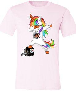 Football Dabbing Unicorn Steps On Helmet Cincinnati Bengals Unisex Jersey Tee