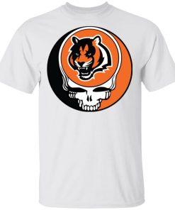 NFL Team Cincinnati Bengals x Grateful Dead Logo Band Men's T-Shirt