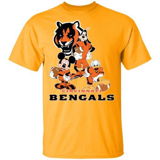 Mickey Donald Goofy The Three Cincinnati Bengals Football Shirts Men's T-Shirt