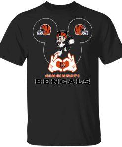 I Love The Bengals Mickey Mouse Cincinnati Bengals Men's T-Shirt
