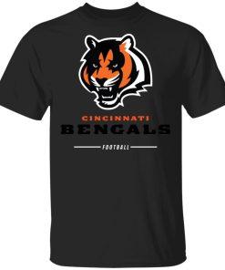 Cincinnati Cengals NFL Pro Line Black Team Lockup Men's T-Shirt