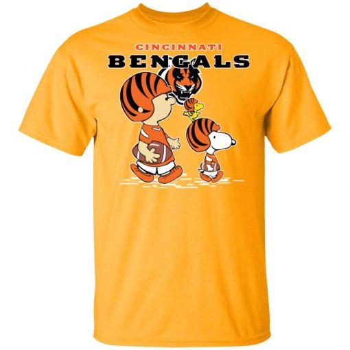 Cincinnati Bengals Let's Play Football Together Snoopy NFL Men's T-Shirt