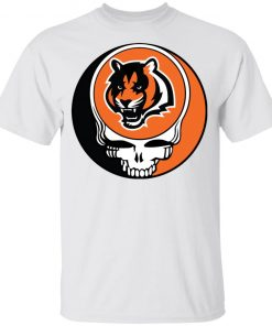 NFL Team Cincinnati Bengals x Grateful Dead Logo Band Youth's T-Shirt