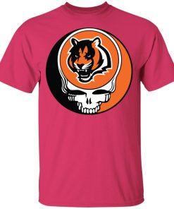 NFL Team Cincinnati Bengals x Grateful Dead Logo Band Youth's T-Shirt