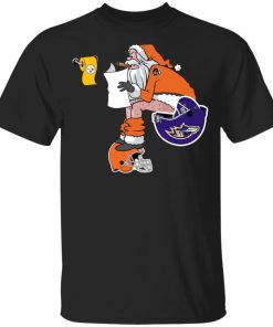 Santa Claus Cincinnati Bengals Shit On Other Teams Christmas Youth's T-Shirt