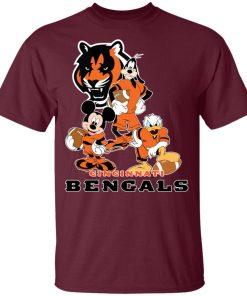 Mickey Donald Goofy The Three Cincinnati Bengals Football Shirts Youth's T-Shirt