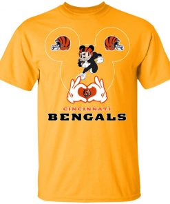 I Love The Bengals Mickey Mouse Cincinnati Bengals Youth's T-Shirt