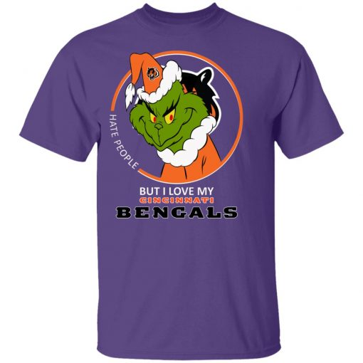 I Hate People But I Love My Cincinnati Bengals Grinch NFL Youth's T-Shirt